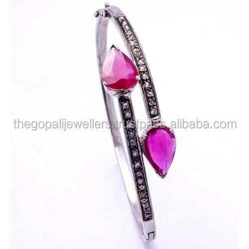 The Gopali Jewellers Genuine ruby bracelet gold filled ruby bracelet red bracelet july birthstone Jewelry