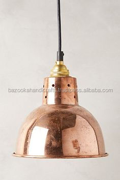 Pendant Lamps, Hanging Copper Plated Lamp, Industrial Lamp,
