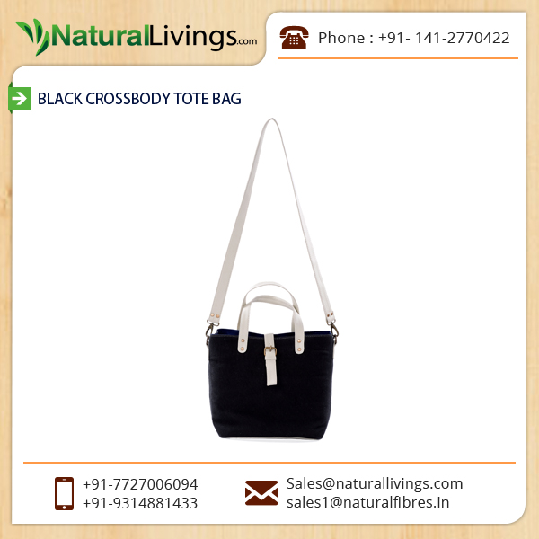 Elegant Black Cross-body Tote Bag Available for Young Girls