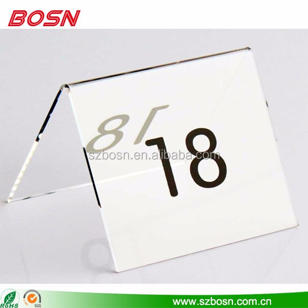 clear acrylic table number transparent table number acrylic table number display stand
