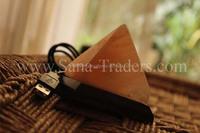 Natural Himalayan Rock Salt USB LED Mini Design Pyramid Lamp