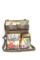 Gift Stylish Leather Women's Handbag Hand Painted Handmade messenger Bag Hobo