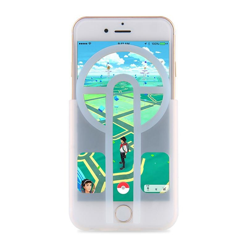 Pokemons Go Game Controllers Sighting Device Collimation Aim silicon Phone Case For iPhone 5 5s 6 6S 6 Plus