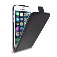 Flip Case Cover Genuine Leather for iPhone SE Black