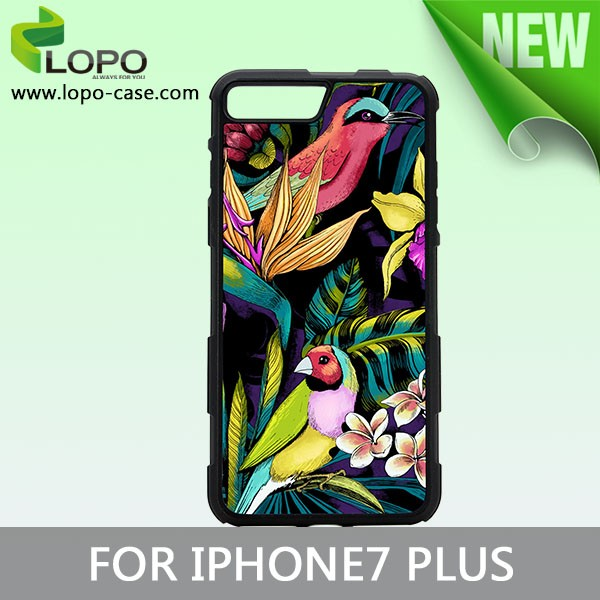 New Protective sublimation 2D TPU case for iphone 7 plus