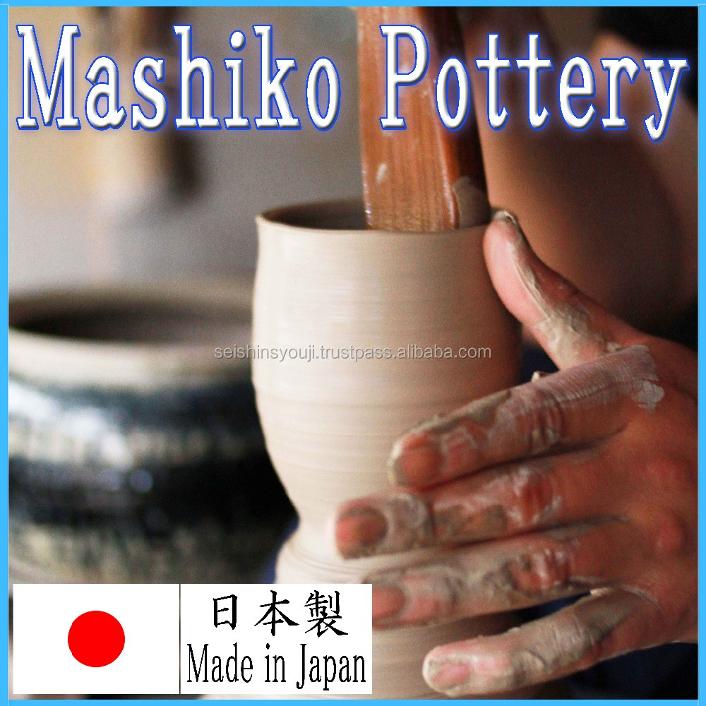 Modern design and Stylish design garden pottery Mashiko tableware made in Japan