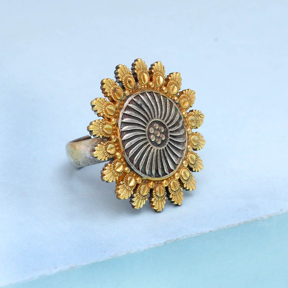 Jaipur Mart Wholesale Oxidised Rings Silver & Gold Plated Jewelry Indian Traditional Design Finger Ring for Fashion Women & Girl