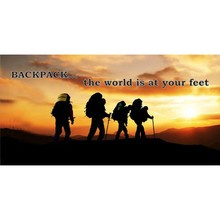 Backpack The World Is At Your Feet Photo License Plate - discounts available, click on picture to view