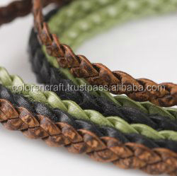 leather cords lace for belts furniture jewellery bags