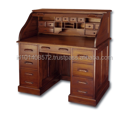 Mahogany Desk Roll Top A Indoor Furniture.