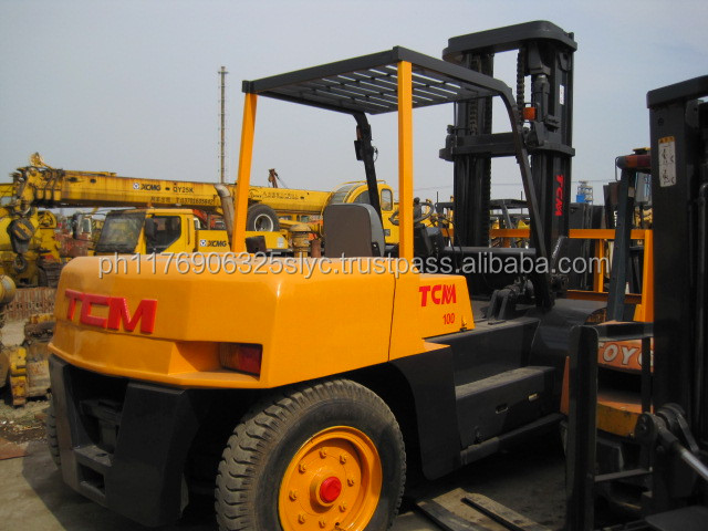 Used/Secondhand TCM 10ton forklift FD100, used 10ton forklift, TCM 2ton 2.5ton 3ton 5ton 8ton Forklift