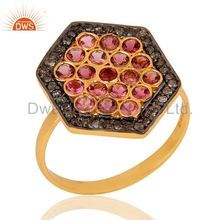 Natural Pink Tourmaline Gemstone Ring 925 Silver Designer Rings Manufacturer of Pave Diamond Ring Jewelry
