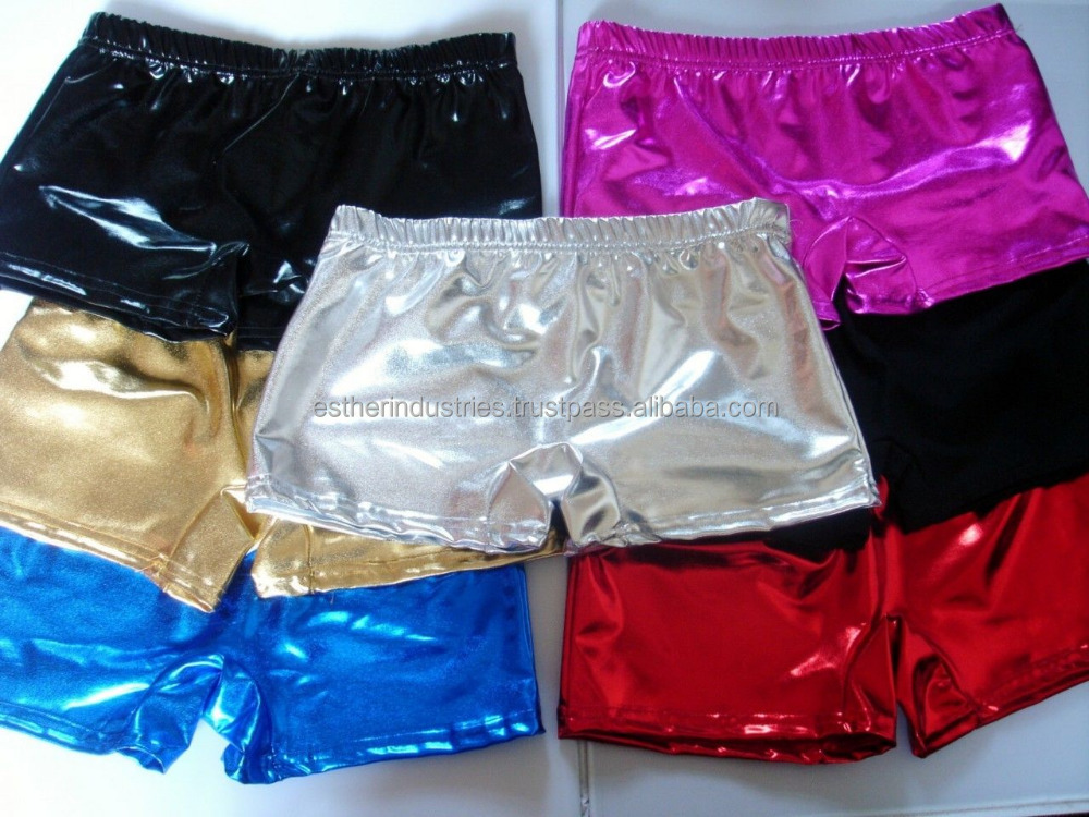 Ladies Women Shiny Metallic Hot Wet Look Pant Shorts/Hot Pants Ladies Shiny Fancy Dress Costume Party Wet Look Shorts