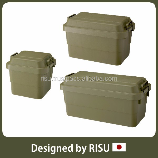 High-capacity and Durable plastic storage case with handle storage container with lid for home use with load capacity 100kg