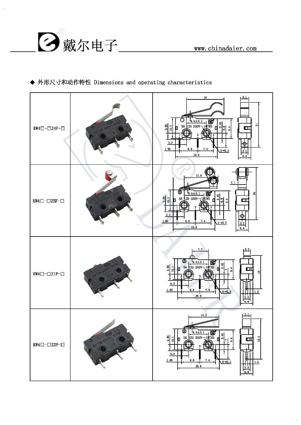 Different Types Of Electrical Switches Mini Electric