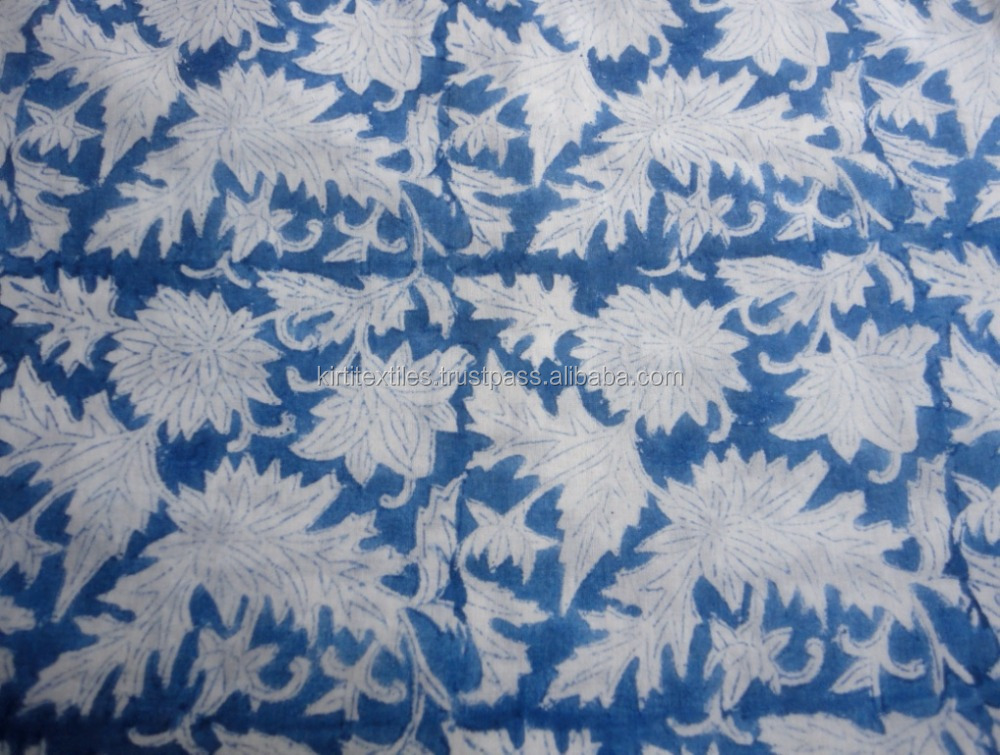 sale Raw Material Latest Design Jaipur Sanganeri Printed Hand block fabric 50 yard Home textile printed ladies garments Fabric