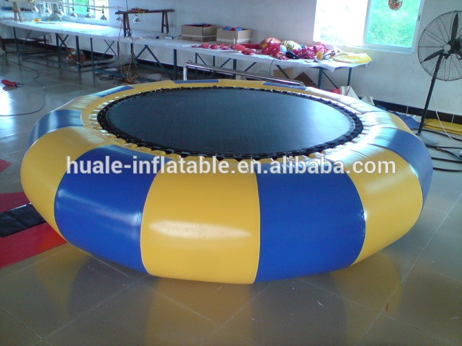 PVC made Funny inflatable water trampoline for kids for adults/cheap inflatable trampoline for sea games