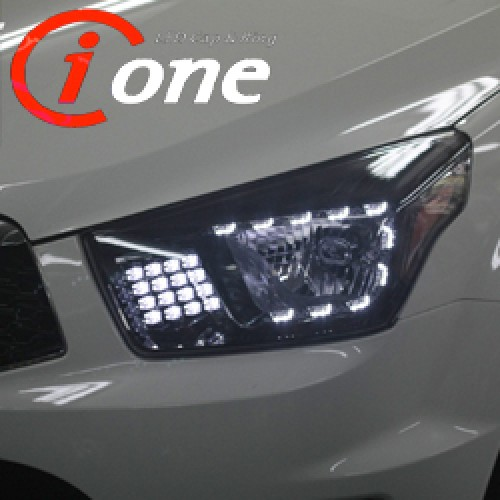 [IONE] SsangYong Korando Sports - LED Aud-Line (TF Version ) Projection Headlights Modules (no.0234)