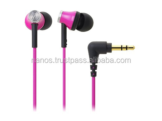 Various colors of wired earphones for mobile phones , winding holder included