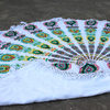 colorfull mandala 100% cotton sheet terry backing round beach towels