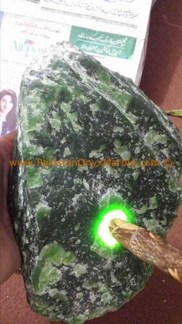 UNIQUE ROUGH NEPHRITE JADE