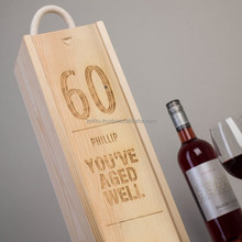 Wooden Gift Box for bottles, customer production available