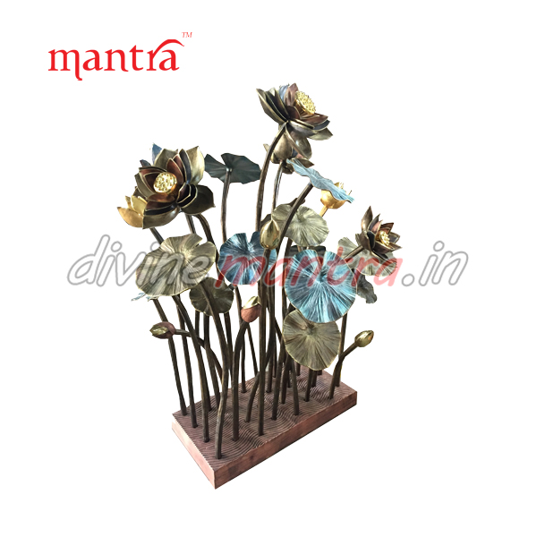 Bronze flower Lotus Sculpture for Interior purpose