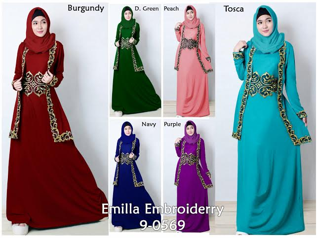 new cheap muslim maxi dress with embroiderry