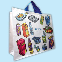 Woven PP woven fabric Folding Style vietnam bag - suitable for Supermarket