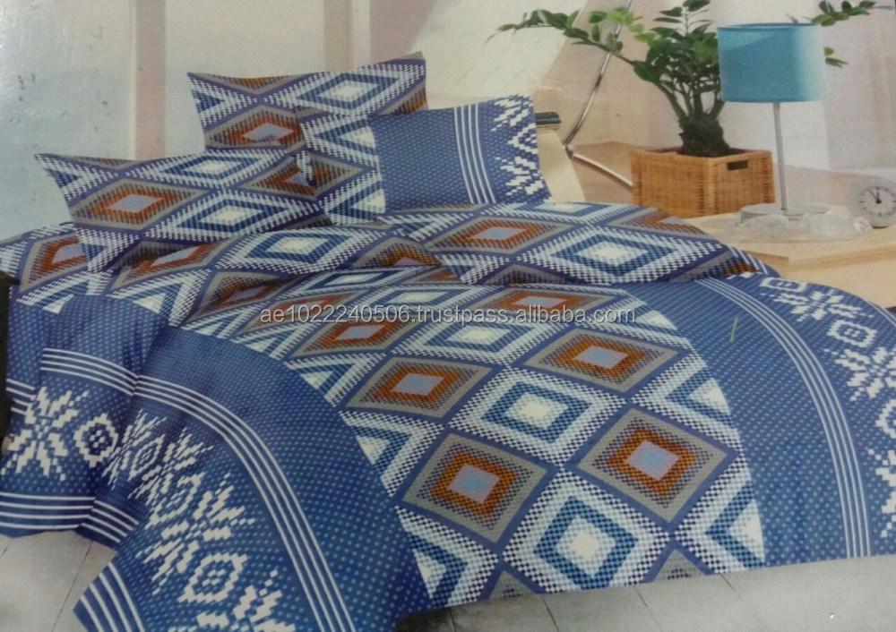 New Comfortable Bed Sheet Set 4 pieces King Size Bedding Set Printing Duvet Cover Set 100% Cotton US $8.75-50 / Set