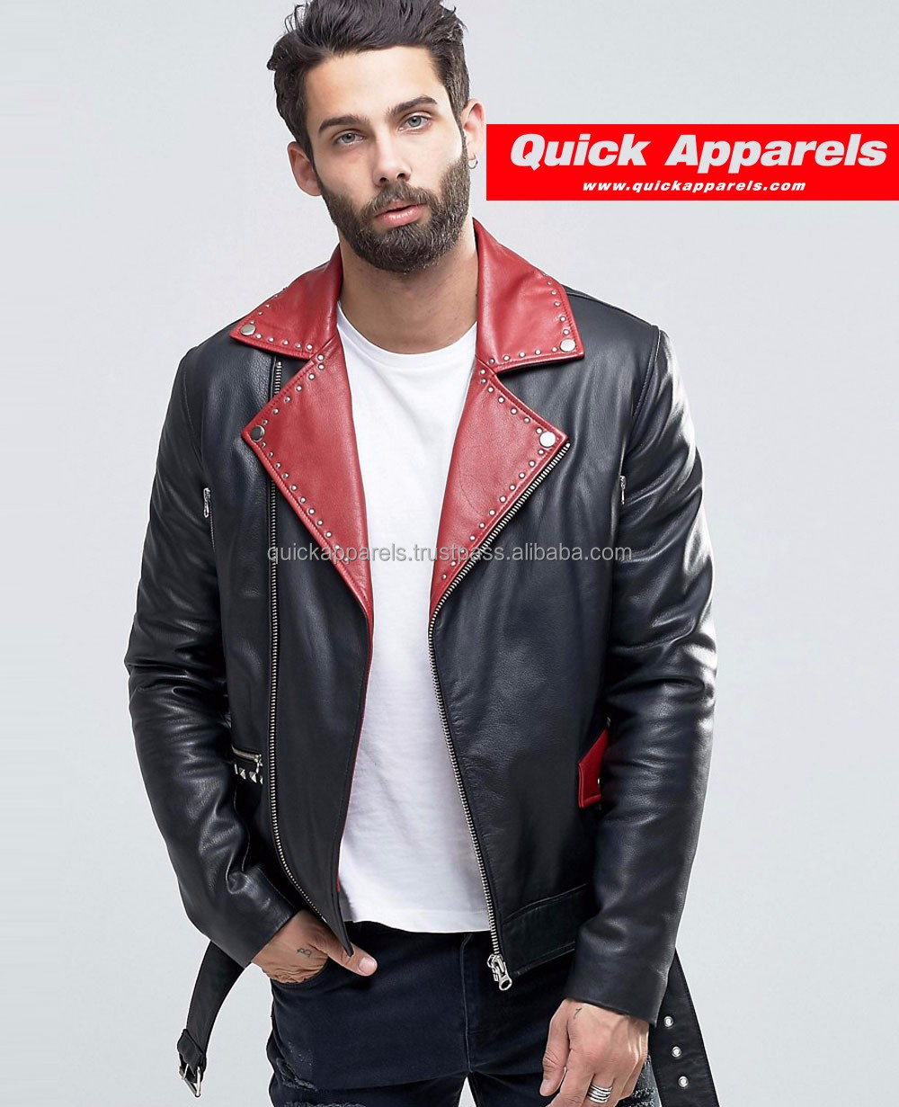 High Quality Men Leather Jacket Made In China, Custom Jacket Leather Men, Fancy