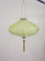 Vietnam silk fabric lantern for outdoor use