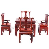 Rosewood Mini Table and Chair Decoration Carved 55x105x45mm 100x75x100mm Sold By Set
