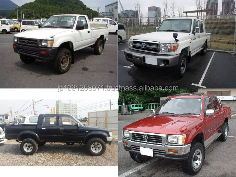 Reliable and Low cost used toyota pickup trucks with good fuel economy made in Japan
