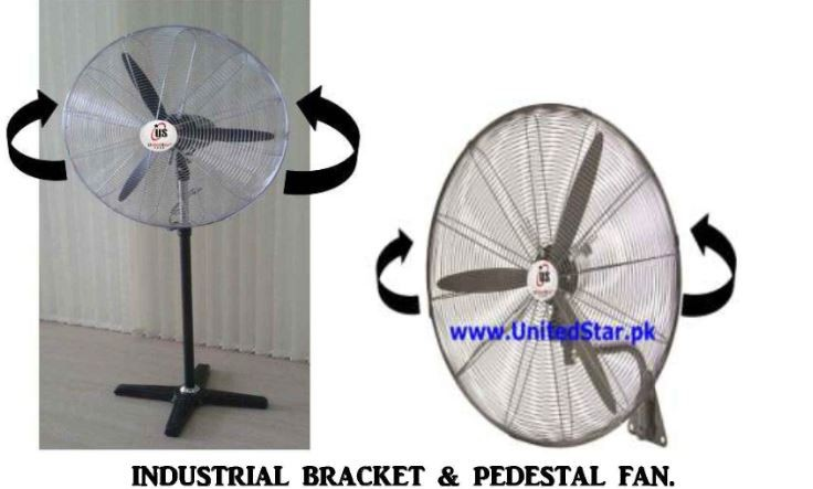 INDUSTRIAL BRACKET & PEDESTAL FANS 30 inch and 34 inch