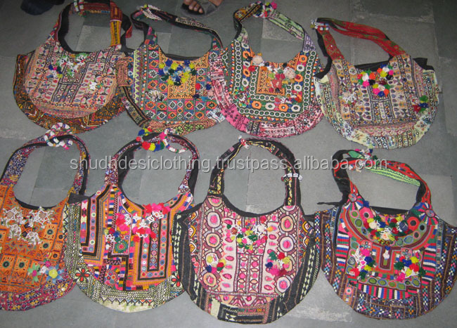 Gypsy clutch indian women banjara bag