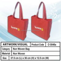 non woven shopping bag (red)