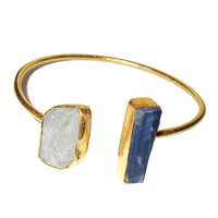18K GOLD JEWELLERY FACTORY RAJASTHAN RAW GEMSTONE BRASS BANGLE - RBB994
