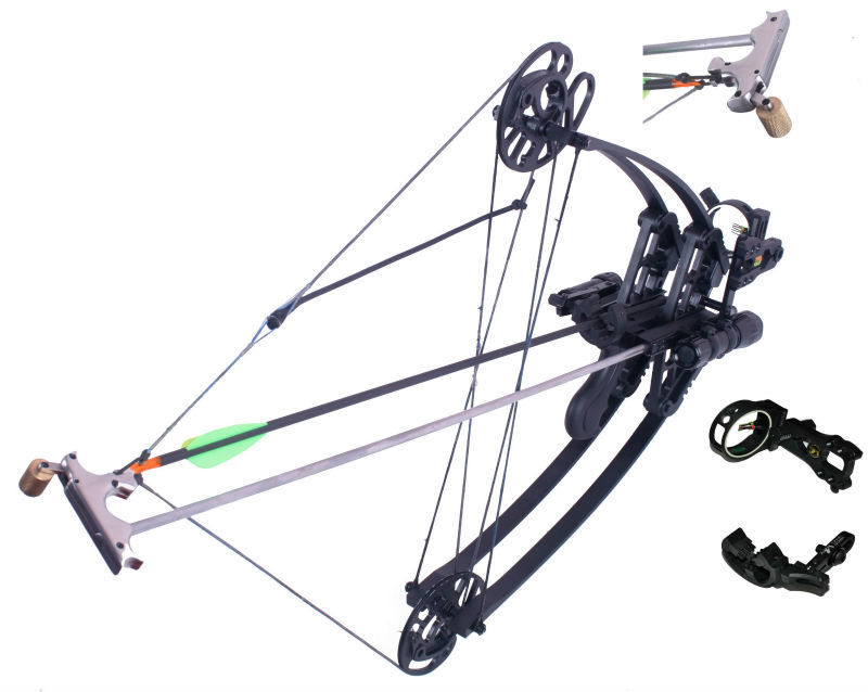 hunting compound bow and arrow set triangle bow 45lbs fiberglass limbs archery china wholesale for beginner