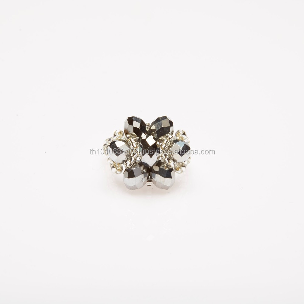 Crystal Flower Ring Strong Idea Well Exceptional
