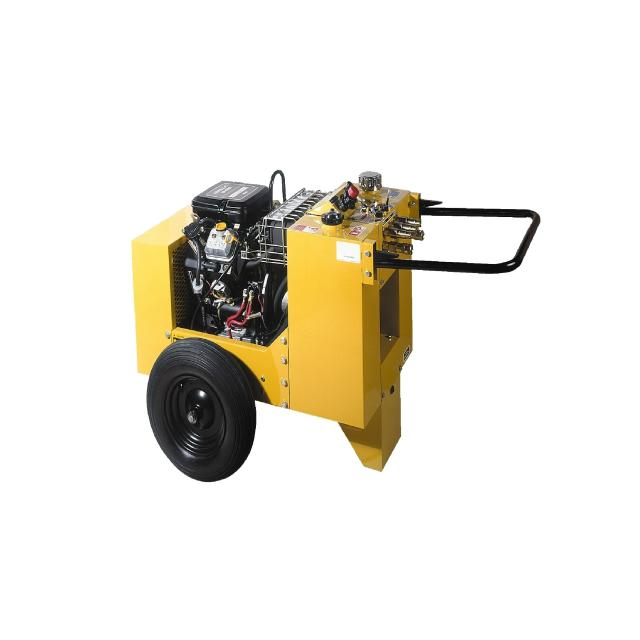 Burndy HPP18, 18 hp Hydraulic Power Pack with 2 Cylinder 4 Cycle Gasoline Engine, Single Circuit
