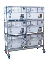 TROLLEY WITH INBUILT POLYPROPYLENE RABBIT CAGES