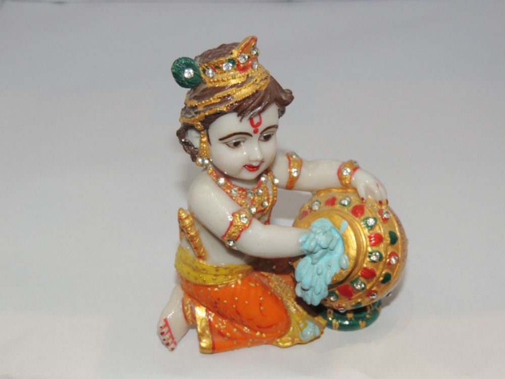 High Quality Marble Lord Krishna Statue Wholesale Beautiful Laddu Gopal Makhan Chor
