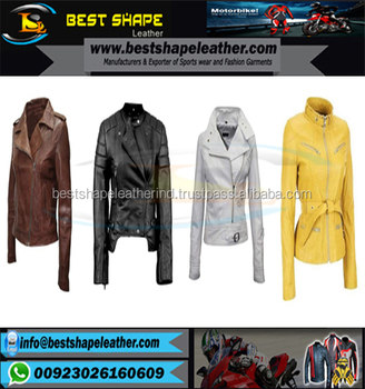 Ladies Fashion Biker Punk Studded Leather Jackets