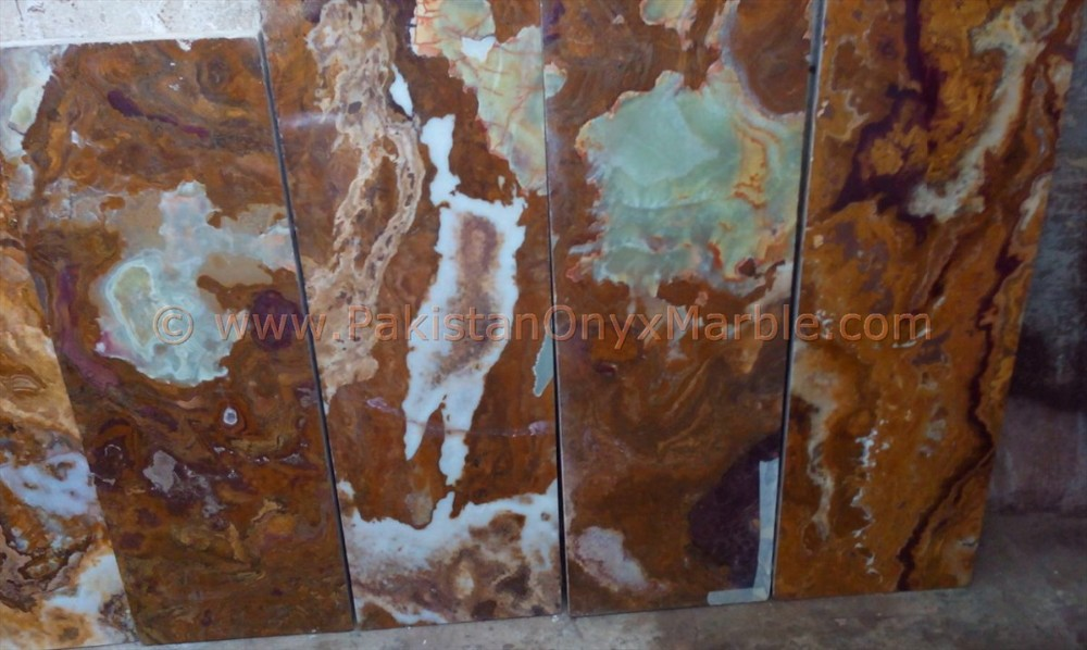 BOTTOM PRICE MANUFACTURE MULTI BROWN/GOLDEN ONYX TILES