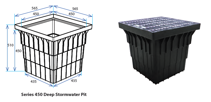 450D Stormwater Pit with Class B Grate