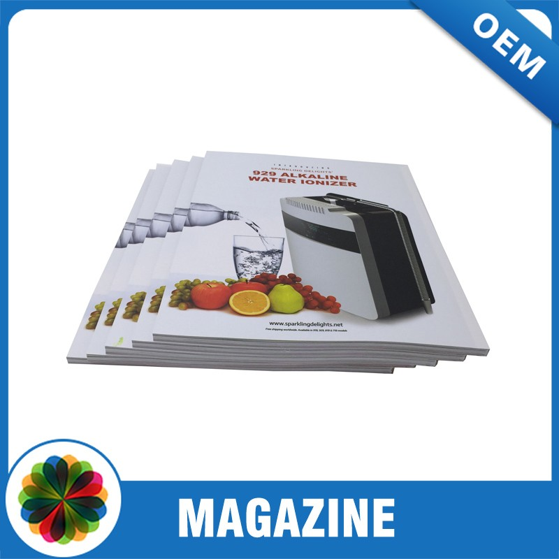 China Guangzhou cheap magazine printing catalog printing with perfect binding
