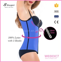 2016 High Quality Body Shaper Girdle Steel Boned Latex Corset With S To 6Xl W0303C7