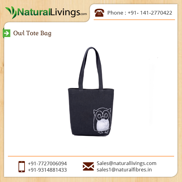 Trendy Look Creative Design Black Owl Tote Bag Manufacturer
