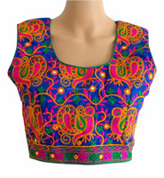 2016 READYMADE BLOUSE-WHOLESALE READY MADE SLEEVELESS BLOUSE-KUTCHI EMBROIDERED WORK BLOUSE